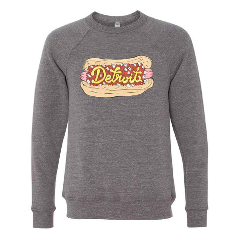 Detroit Coney Dog Crewneck Sweatshirt - City Bird