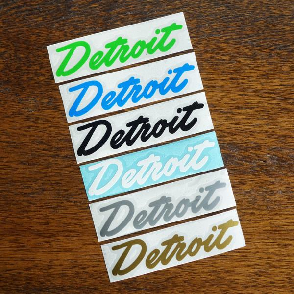 Detroit Script Die-Cut Sticker - City Bird