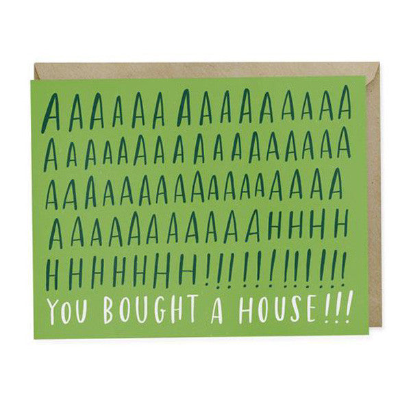 Aah! House New Home Card - City Bird