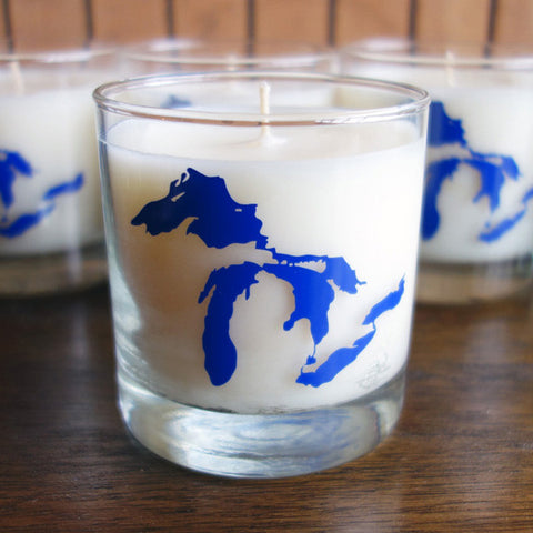Great Lakes Soy Wax Candle - Great Lakes Fresh Water Scent - City Bird