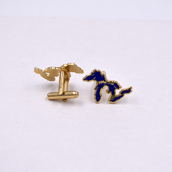 Great Lakes Cloisonné Cuff Links - City Bird