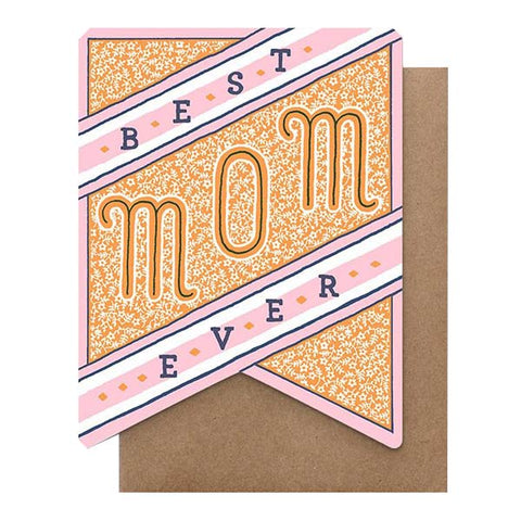 Best Mom Ever Banner Card - City Bird
