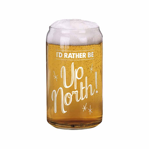 I'd Rather Be Up North Beer Can Glass - City Bird