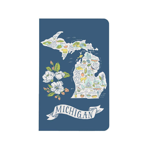 Illustrated Michigan Map Notebook - City Bird