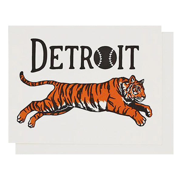 Detroit Tiger Letterpress Card - City Bird