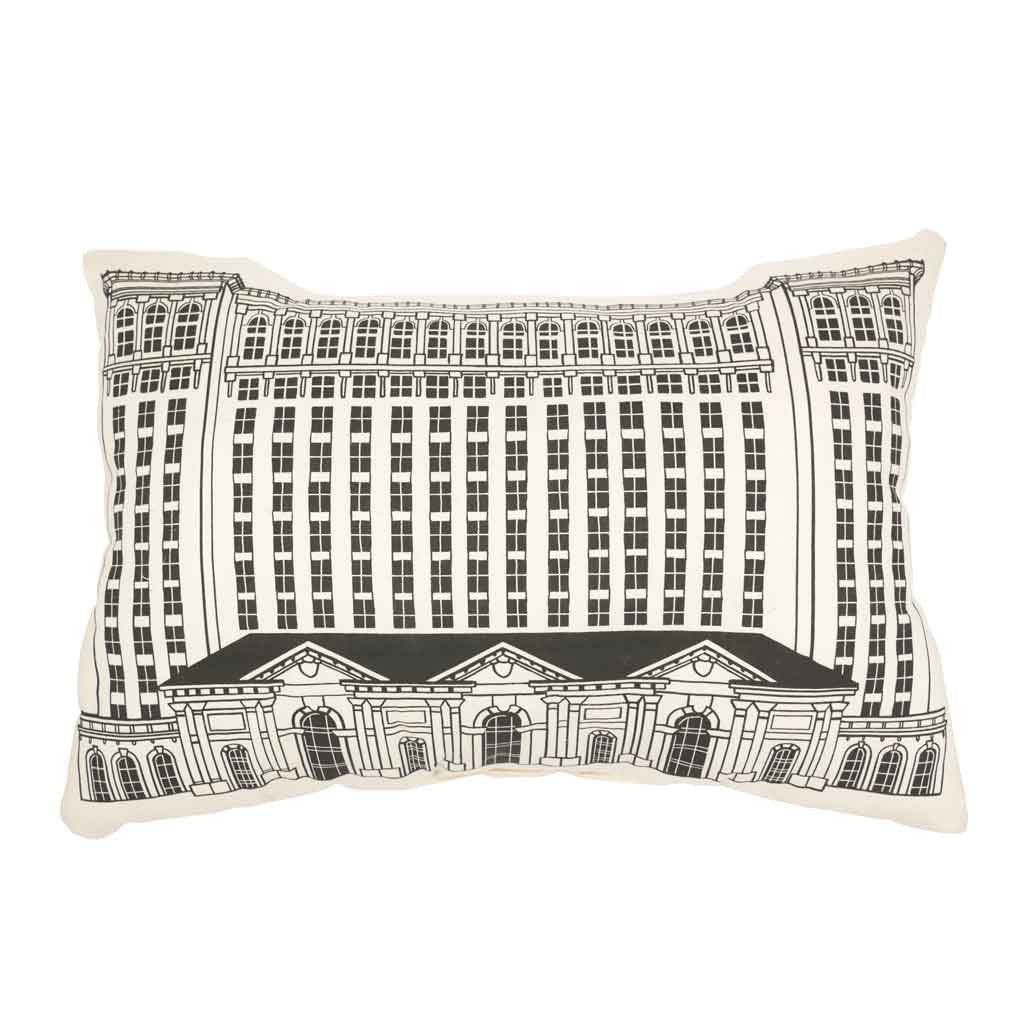 Michigan Central Station Building Pillow (MCS) - City Bird
