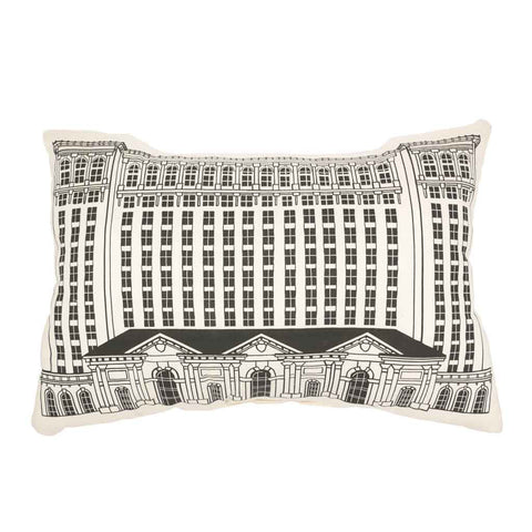 Michigan Central Station Building Pillow - City Bird