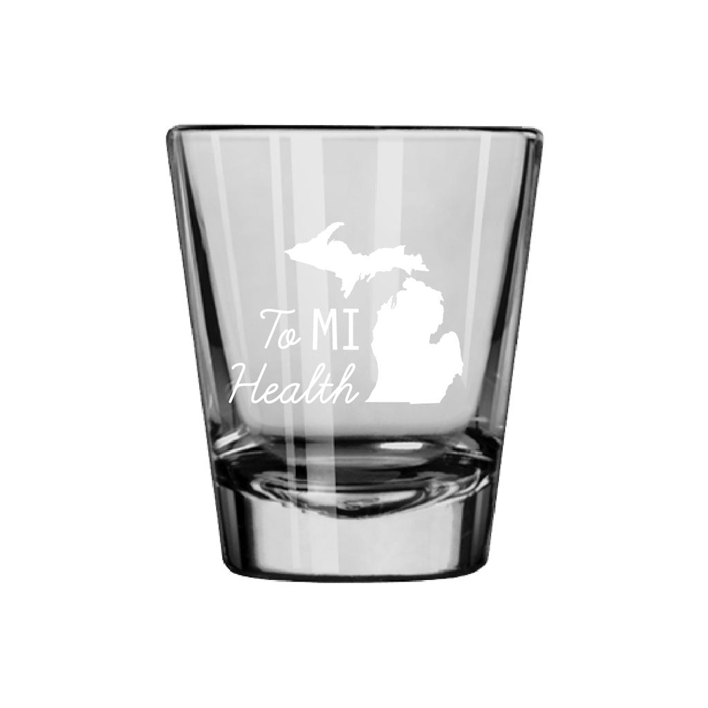 To MI Health Shot Glass - White - City Bird