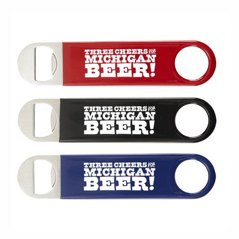 Three Cheers for Michigan Beer Bottle Opener - City Bird