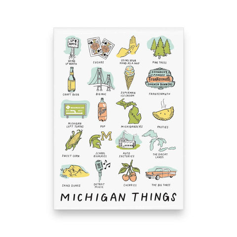 Michigan Things Magnet - City Bird