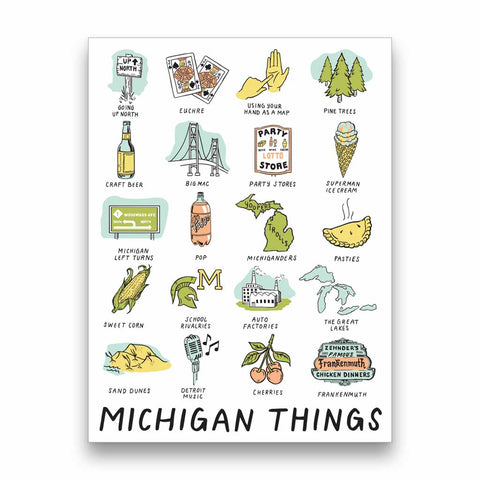 Michigan Things Sticker - City Bird