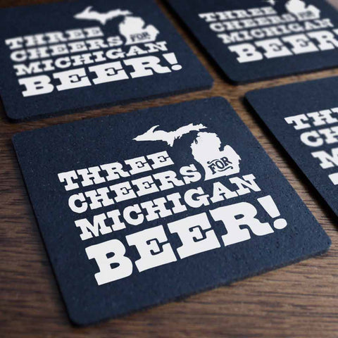 Three Cheers for Michigan Beer Tire Coaster Set