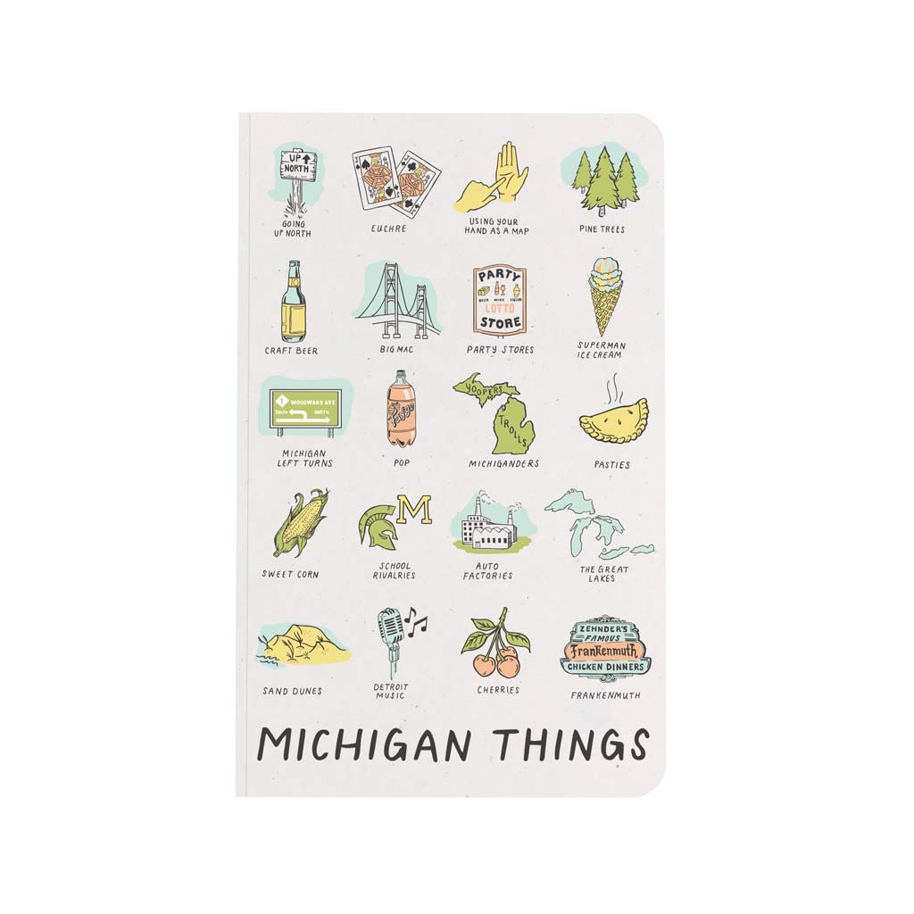 Michigan Things Notebook - City Bird