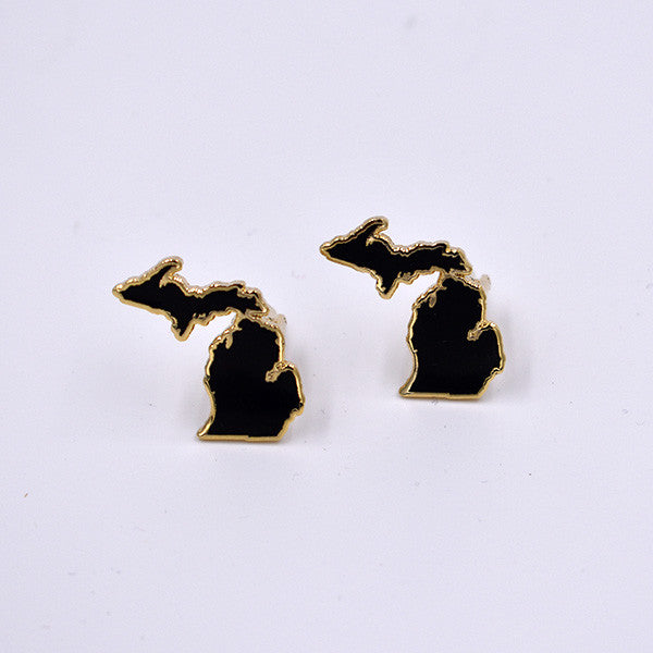 Michigan Cloisonné Cuff Links - City Bird