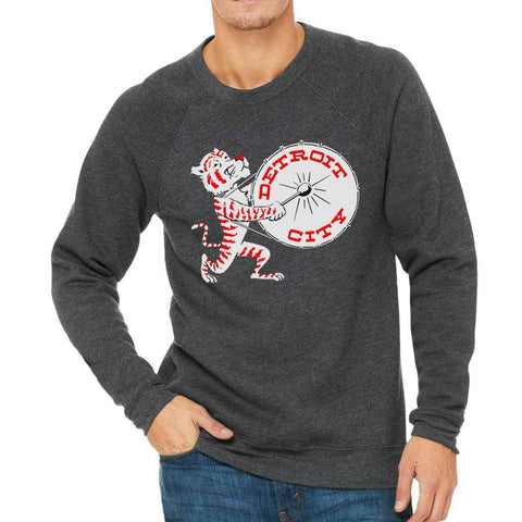 Party Tiger Drum Crewneck Sweatshirt - City Bird