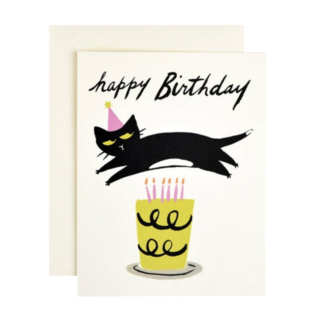 Cat Candles Card Card - City Bird
