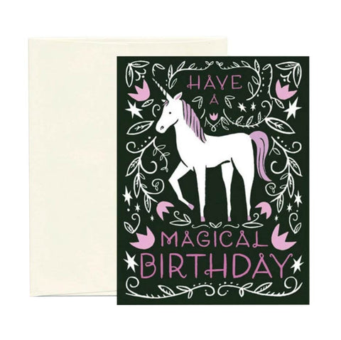 Magical Unicorn Card - City Bird