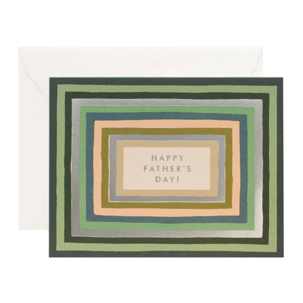 Striped Father's Day Card - City Bird