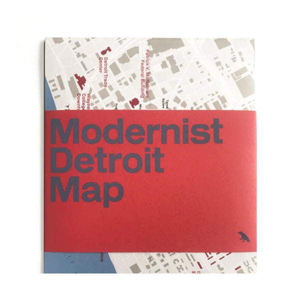 Modernist Detroit Map