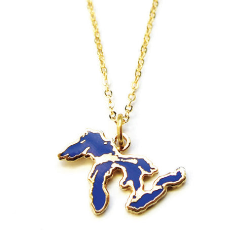 Great Lakes Cloisonne Necklace