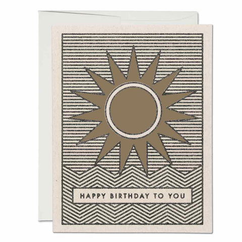 Sunshine Birthday Card