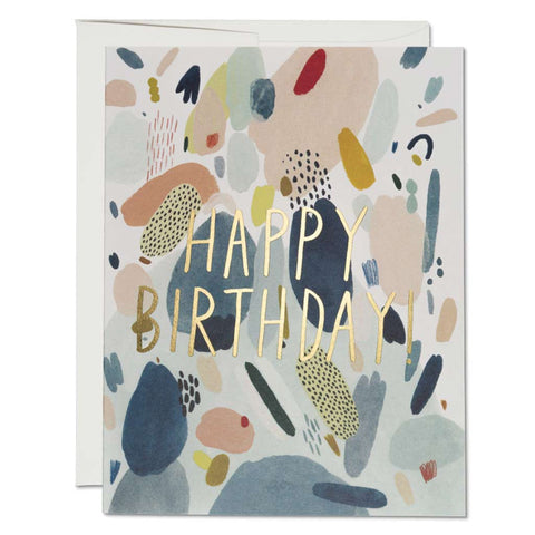 Abstract Birthday Foil Card