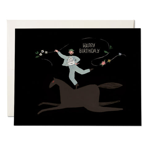 Bareback Birthday Card