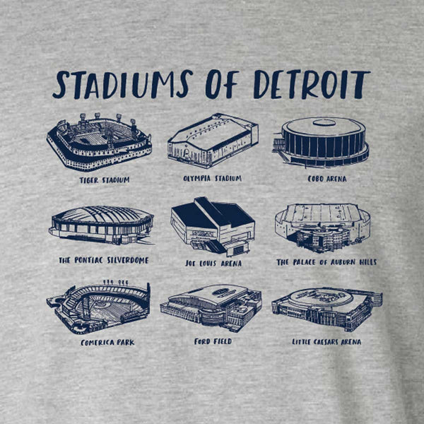 Stadiums of Detroit T-Shirt - City Bird
