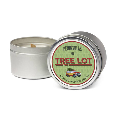 Tree Lot Tin Candle