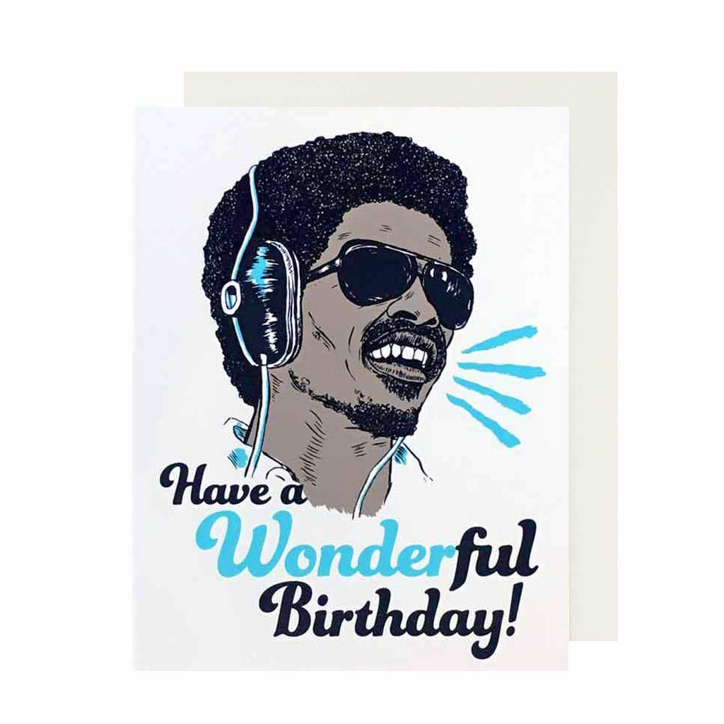 Have a Wonder-ful Birthday Hand Silkscreened Card - City Bird