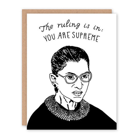 Ruth Bader Ginsburg - All Occasion Card - City Bird