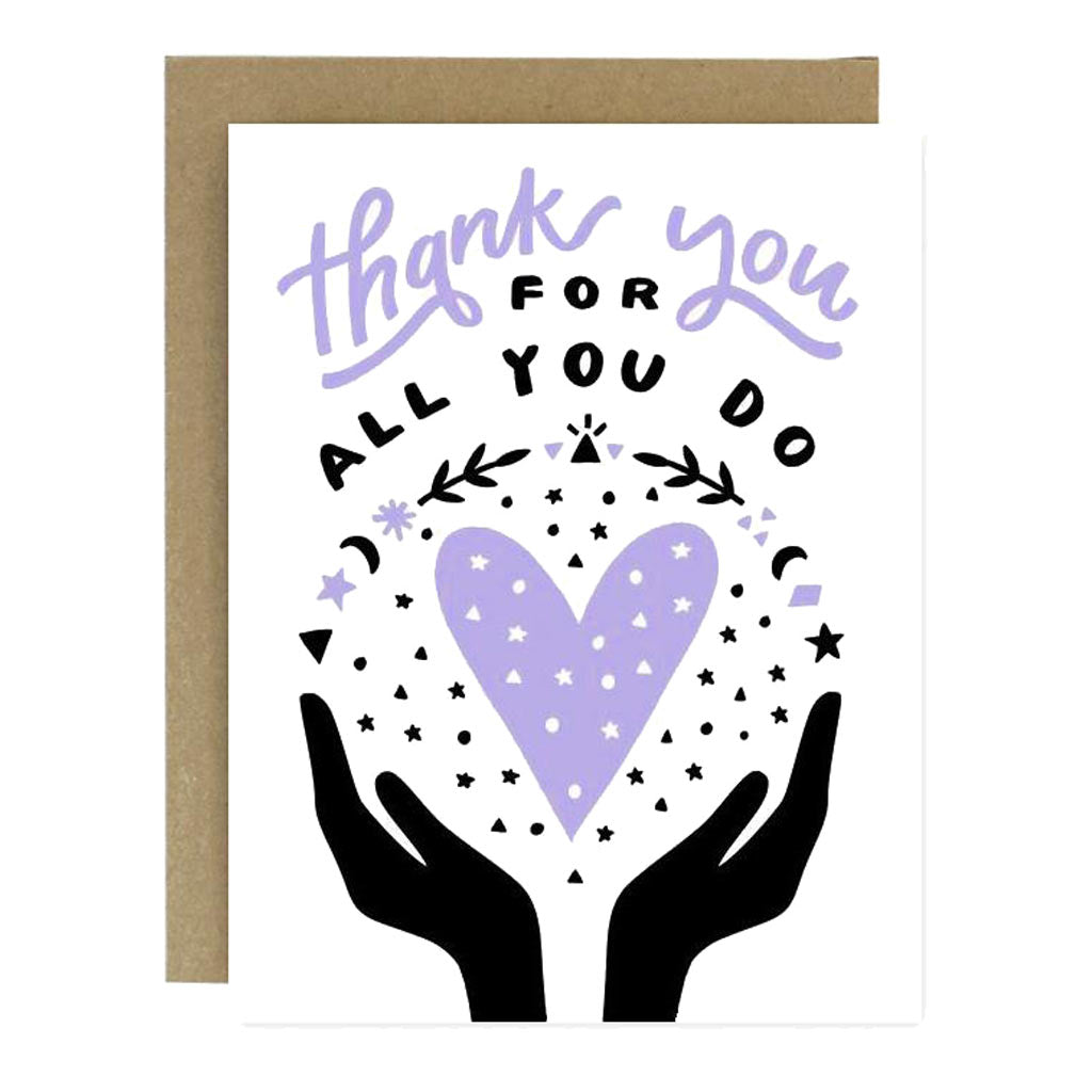 Thank You All You Do Card - City Bird