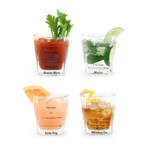 Bartending Glasses - Set of 4 - City Bird