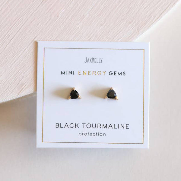 Black Tourmaline - Mini Energy Gem Earrings