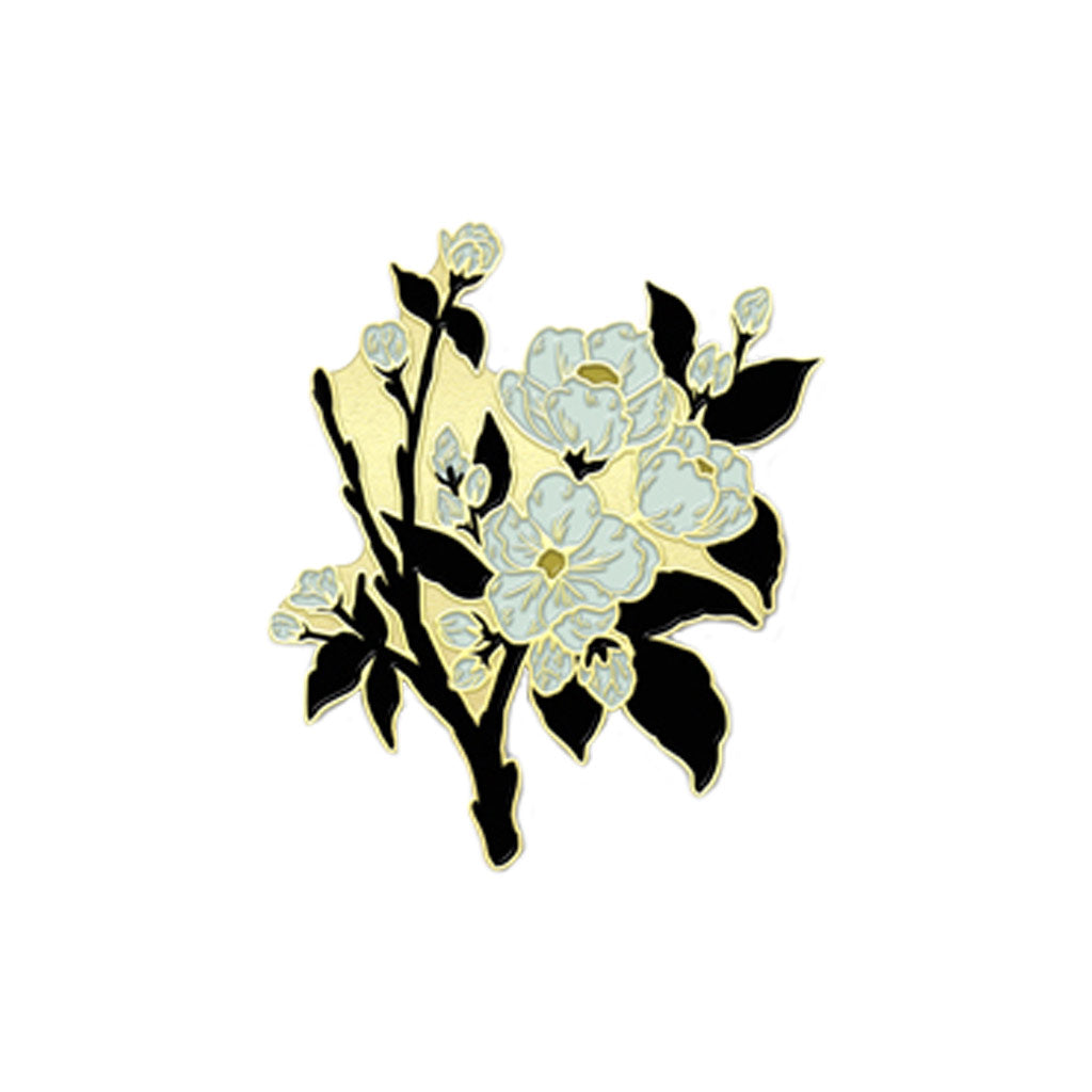 Apple Blossom Enamel Pin - City Bird
