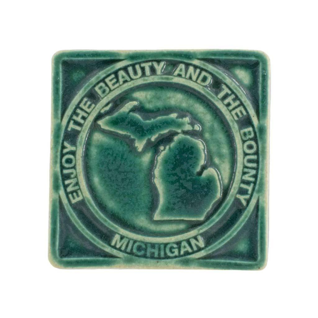 Beauty & Bounty Michigan Pewabic Tile - City Bird