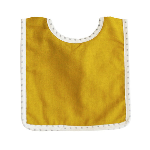 Butterscotch Linen Bobby Bib - City Bird