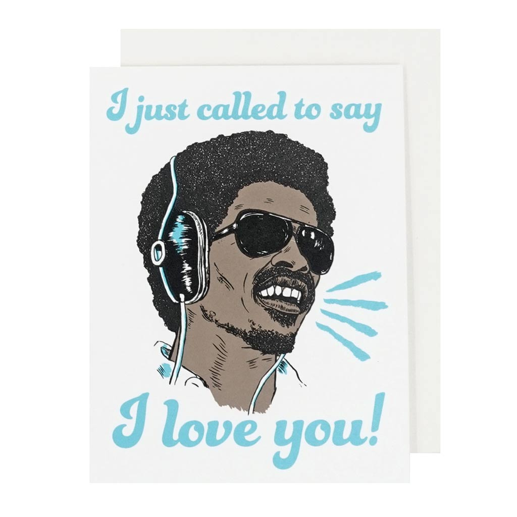 Called To Say I Love You Hand Silkscreened Card - City Bird