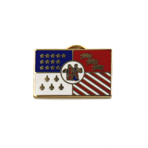 Detroit City Flag Cloisonné Lapel Pin - City Bird