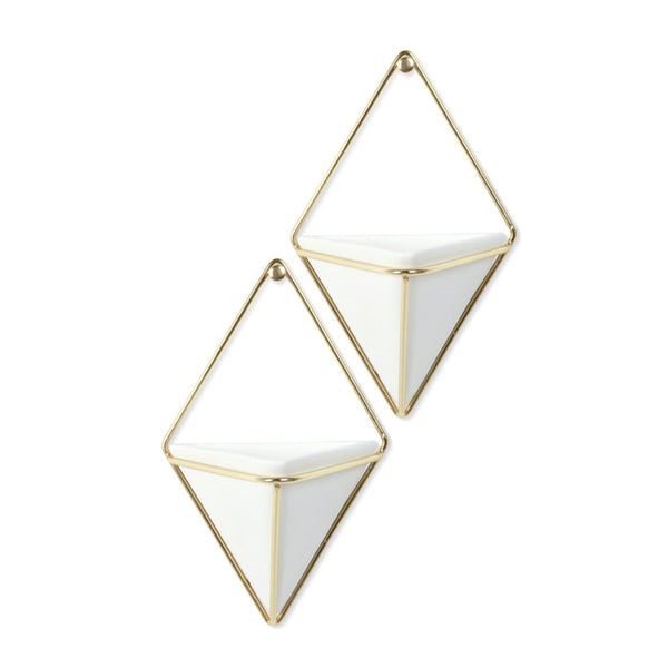 Trigg Wall Display - small - set of 2 - white/brass - City Bird