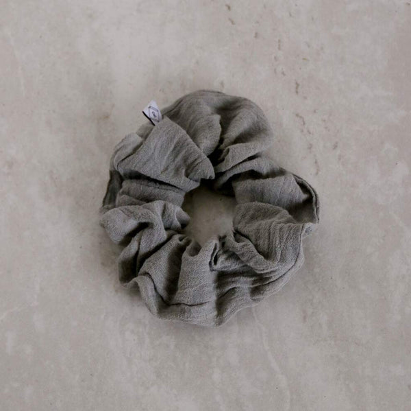 Naturally Dyed Cotton Scrunchie - City Bird