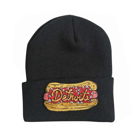 Detroit Coney Patch Knit Beanie