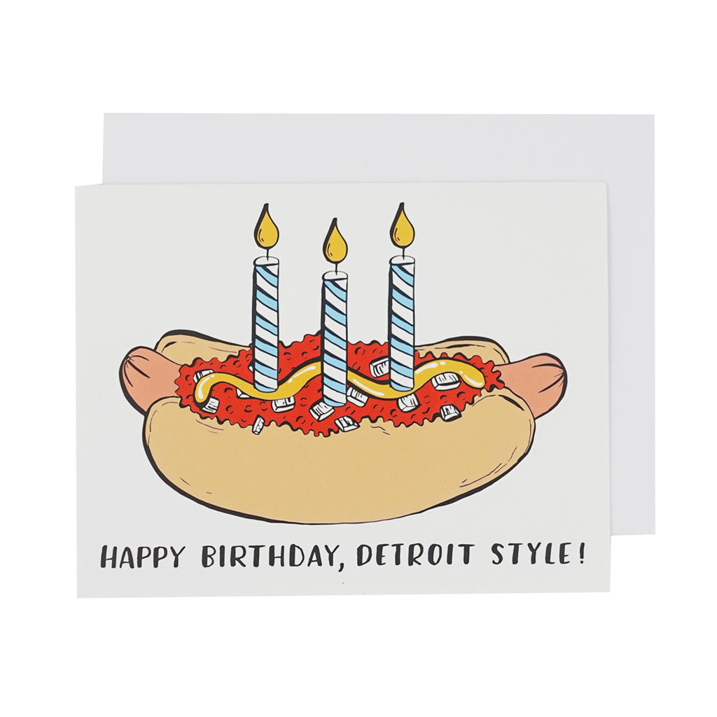 Happy Birthday, Detroit Style! Card - City Bird