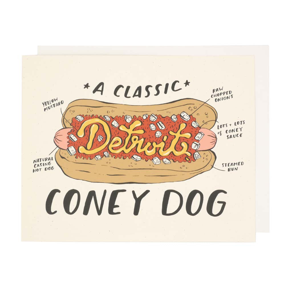 Detroit Coney Dog Print - City Bird