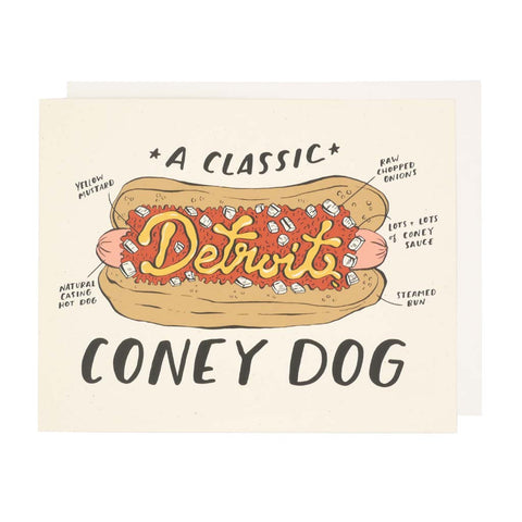 Detroit Coney Dog SIlkscreen Print - City Bird