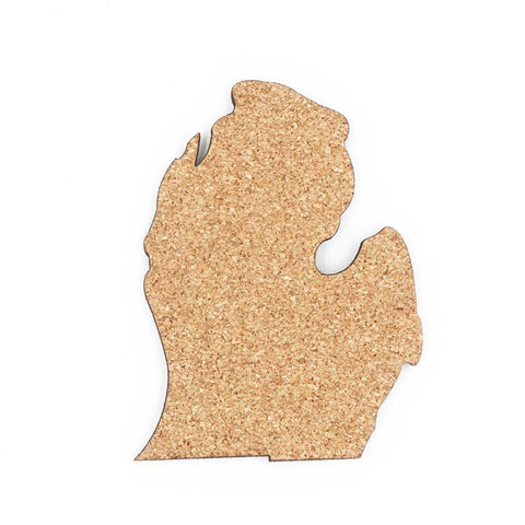 Michigan-Shaped Cork Coaster Set