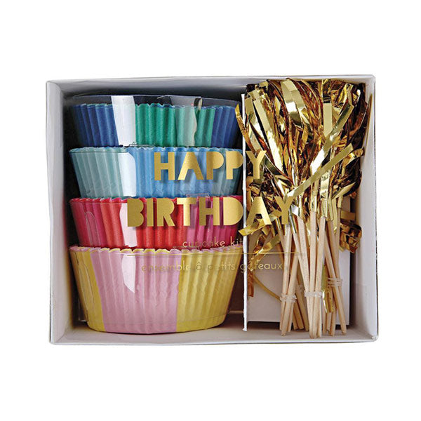 Happy Birthday Cupcake Kit - City Bird