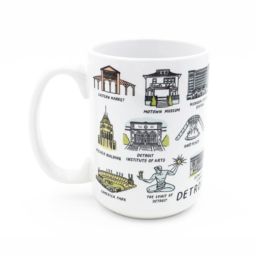 Detroit Landmarks Mug - City Bird
