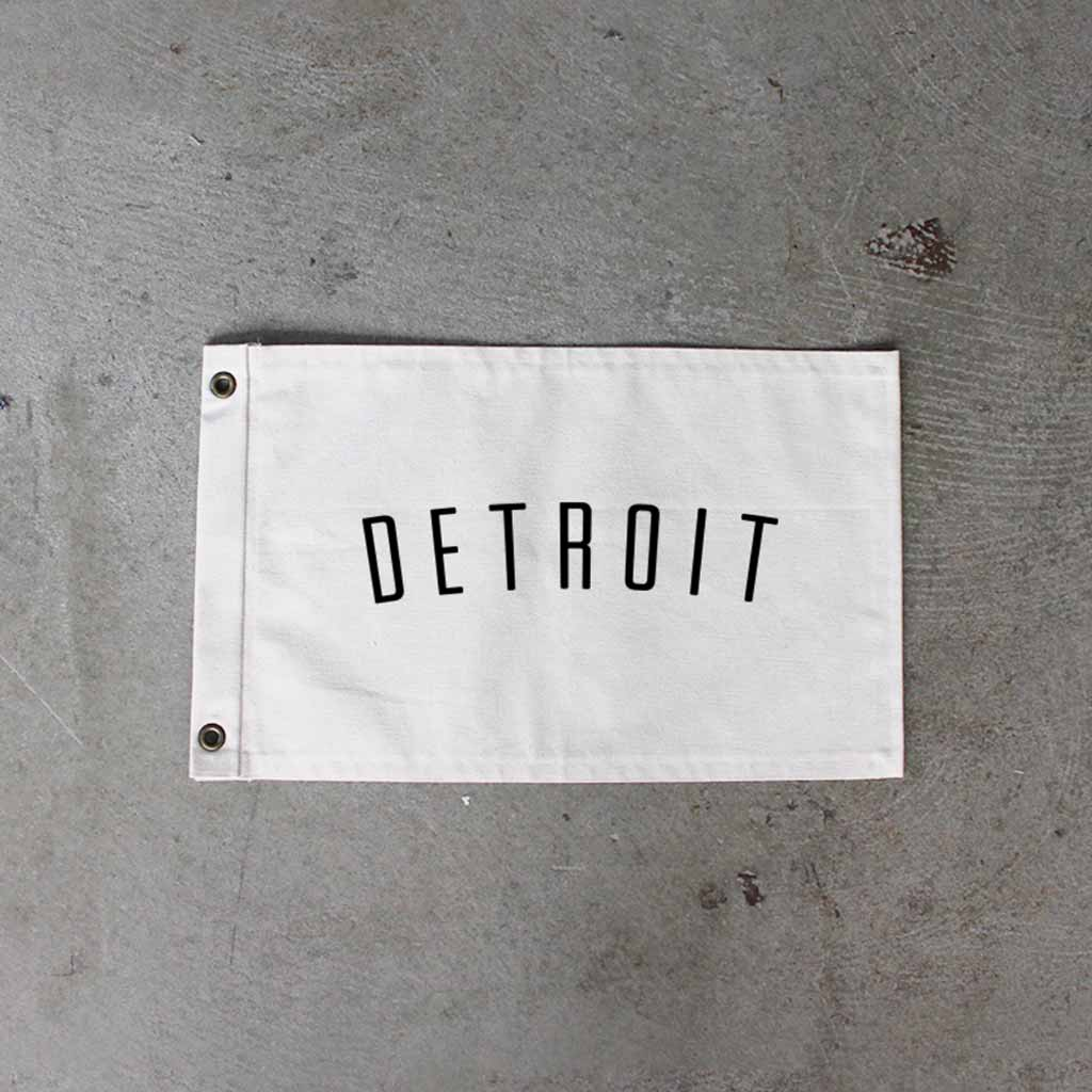 Natural Detroit Flag - City Bird