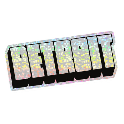Detroit Hologram Vinyl Sticker